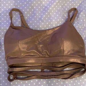 metallic sports bra